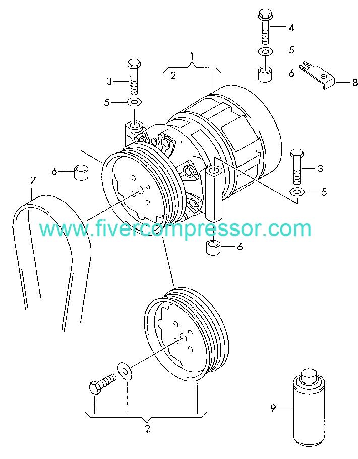 Ac Compressor 4e0260805c 4e0260805ae 4e0260805ak Audi A8s8 Quattro