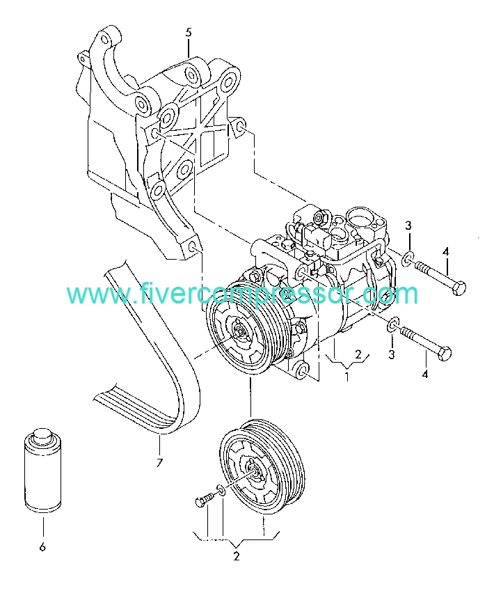 Ac Compressor 4e0260805j 4e0260805n 4e0260805ab Audi A8s8 Quattro