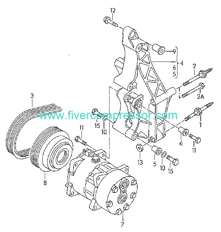 Ac Compressor 701820807a 701820805 701820805q Volkswagen Eurovan