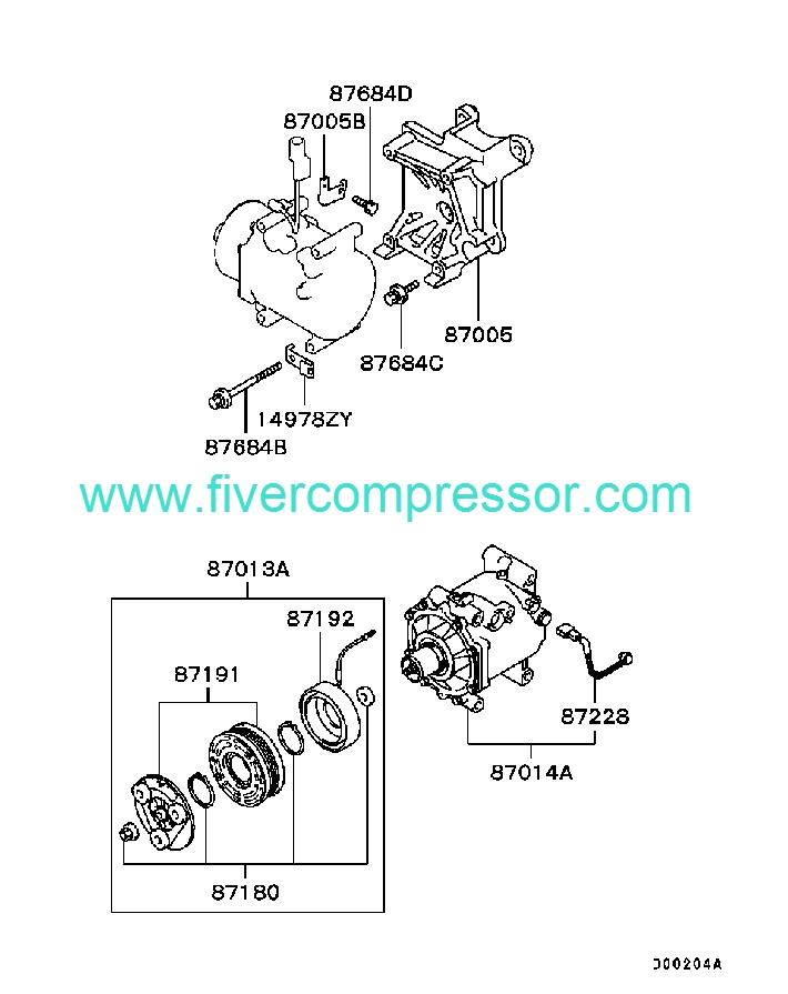 Ac Compressor Assy 7813a037 Mitsubishi Airtrek Outlander
