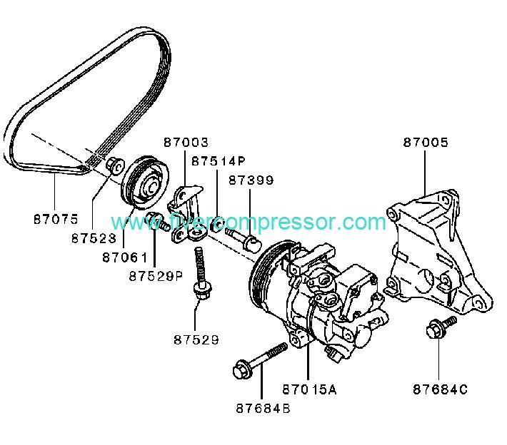 Ac Compressor 7813a059 7813a133 Mr568860 Mitsubishi Colt