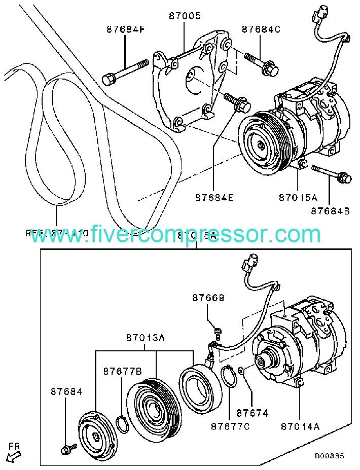 ac compressor 7813a162 7813a163 7813a291 mitsubishi