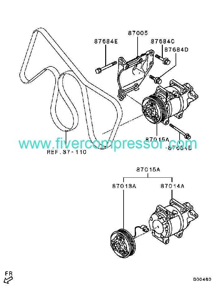 Ac Compressor Assy 7813a289 Mitsubishi Montero Sport 12 2008
