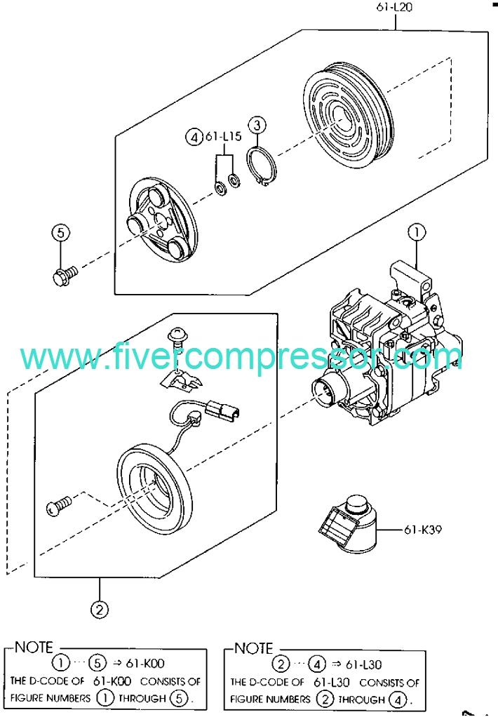 Mazda GB6H-61-K00B A//C Compressor