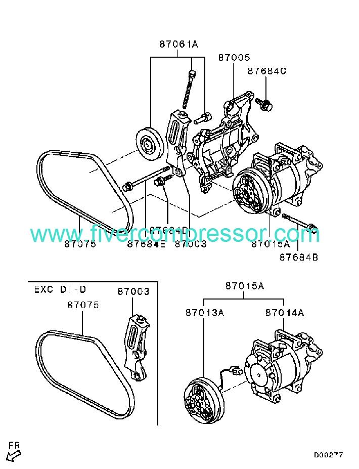 Ac Compressor Mn123626 Mitsubishi L200 L200 Sportero 05 2005
