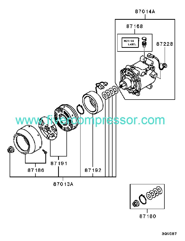 Ac Compressor Mr315442 Mitsubishi Montero Sport 12 2002 09